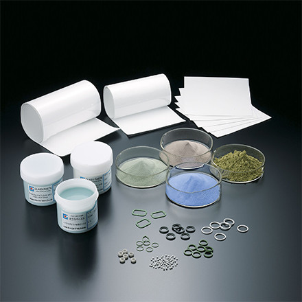 Powder Glass/Glass Pastes